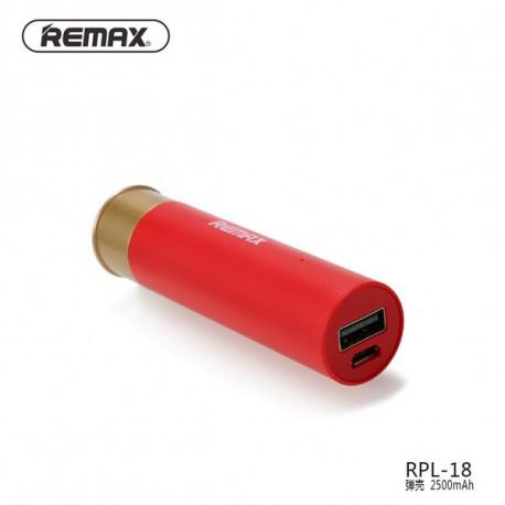 POWERBANK REMAX RPL-18 2500MAH BALA SHELL ROJO RED