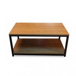 Mesa ratona de madera y estructura de hierro modelo Frank. Envíos a todo el país.