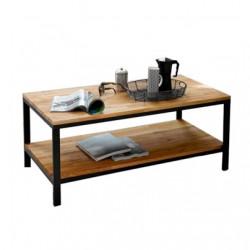 Mesa ratona de madera y estructura de hierro modelo Básica. Envíos a todo el país.