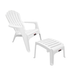Sillon Country Blanco + Posa Pies - Colombraro