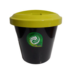 Cesto Tacho Basura Eco Reciclaje Tapa Verde 12Lts - Colombraro
