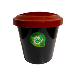 Cesto Tacho Basura Eco Reciclaje Tapa Bordo 12Lts - Colombraro