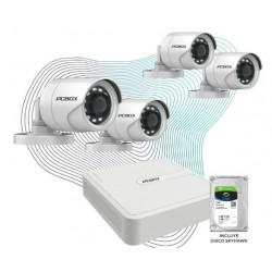 Cctv Kit de Vigilancia Pcbox Look Pcb-4Chkvn (Dvr 4 Camaras 720P 4 Bobinas CDisco 1Tb)