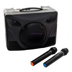 PARLANTE WINCO 232 con 2 Microfono Inalambricos Bluetooth Karaoke