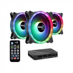 Kit de 3 Coolers Aerocool Duo 12 Pro ARGB - Dual Ring