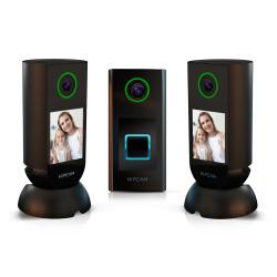 Set De Cámaras De Seguridad Hipcam - Pack Pro 5 (2 Indoor + 1 Doorbell)