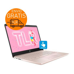 "Hp 14"" Touch Pink 16gb + 512 SSD / Notebook intel N5405 W10"