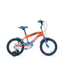 Bicicleta Bmx Niño Niña R16 Topmega C/ Rueditas Azul Naranja