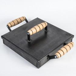Plancheta Plancha de cocina con tapa premium (25 cm)- chef Hernán Caballero + envío incluído