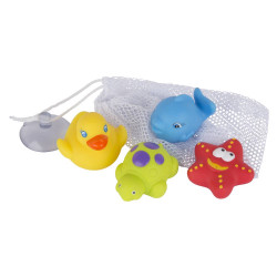 Juguete didáctico Playgro FLOATING FRIENDS BATH FUN AND STORAGE SET