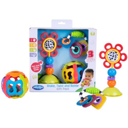 Juguete didáctico Playgro SHAKE TWIST AND RATTLE GIFT PACK