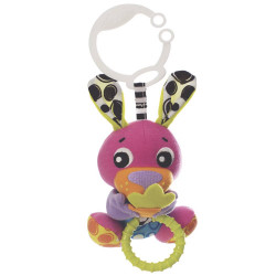 Juguete didáctico Playgro PEEK A BOO WIGGLING BUNNY PINK