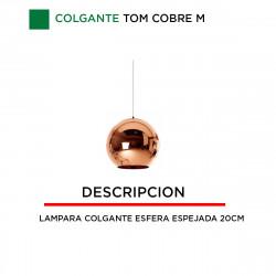 Lampara LAMPARA COLGANTE de Techo Globo Espejado Cobre