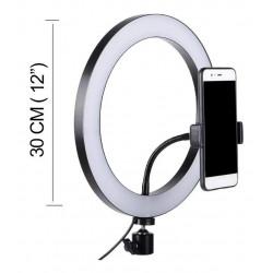 Aro Luz Led Selfie 30cm Soporte De Celular Trípode 360°