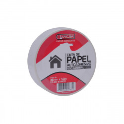 Cinta de papel blanca 36mm x 50m Tacsa