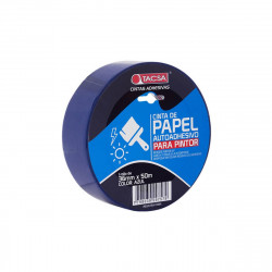Cinta de papel azul 36mm x 50m Tacsa