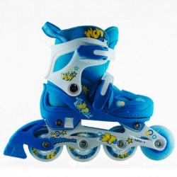 rollers-cougar-615-talle-28-32-azul-casco-rodillera-munequera