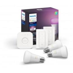 Kit Iluminacion Philips Hue Wca White & Color - 9W E27 3 Lamp 2 Swich Rgb