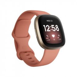 Smartwatch Fitbit Versa 3 Pink ClaySoft Gold Aluminio