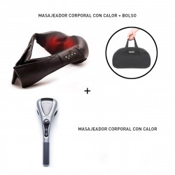 Combo Masajeador Cervical Bolt Luxury Pearl & Masajeador Multicorporal Luxury Wellness