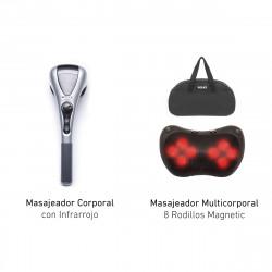 Combo Masajeador Wolke Cervical Blow Elite Magnetic & Masajeador Multicorporal Luxury Wellness