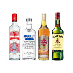Gin beefeater 700 ml + Ron Havana Añejo Especial + Jameson 750 ml + Absolut regular