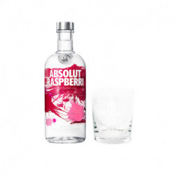 Vodka Absolut Rasperry 750 ml + Vaso absolut de regalo
