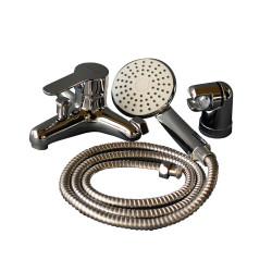 Kit de ducha con canilla y soporte Prego PREG9040