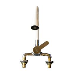 Canilla mezcladora monocomando mesada flexible Blanco Prego PREG9022