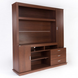 "MODULAR CON ESPACIO PARA TV 52"" CAOBA TABLE'S"