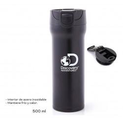 Vaso Termico Discovery 500ml Acero Doble Capa Abertura Push Negro