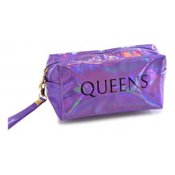 Portacosmeticos Neceser Tornasolado Rectangular Queens Violeta