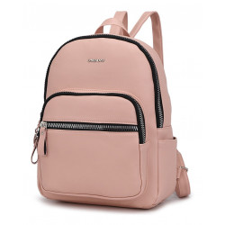 Mochila Trendy C/bolsillo C/cierre Transversal Rosa
