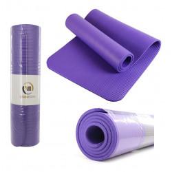 Colchoneta Yoga Mat Fitness Pilates Gym Antideslizante 10 Mm Violeta