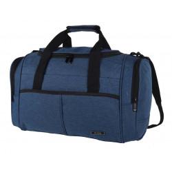 Bolso De Viaje Bossi Grande Liso Jaspeado 8778 Azul