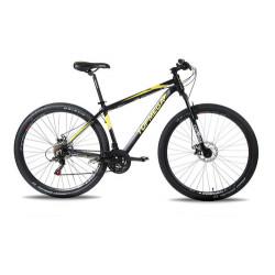 Bicicleta Mtb Topmega Regal R29 21v Disco Mecanico Negro/Amarillo Talle M