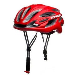 Casco Bicicleta Topmega Mtb 24 Ventilaciones In-mold Rojo/Negro