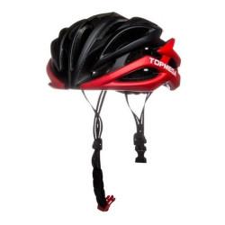 Casco Bicicleta Topmega Mtb Adulto 26 Ventilaciones In-mold Negro/Rojo