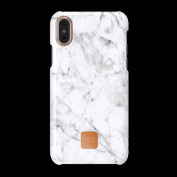 FUNDA HAPPY PLUGS IPHONE X WHITE MARBLE