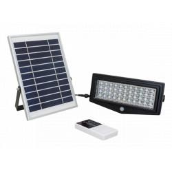 LUZ LED SOLAR LUNNOM LNMH-01T EXTERIOR CON CONTROL SENSOR DE MOVIMIENTO Y PRESENCIA