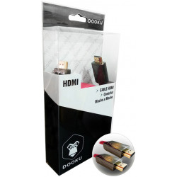 CABLE DOOKU DK-HF30 HDMI CONECTOR MACHO A MACHO PLANO GOLD 24K 3 MTS