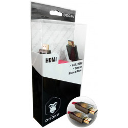 CABLE DOOKU DK-HF50 HDMI CONECTOR MACHO A MACHO PLANO GOLD 24K 5 MTS