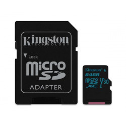 TARJETA DE MEMORIA MICROSD 64GB KINGSTON CANVAS GO! V30 U3 4K 90MB/S