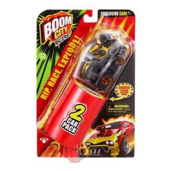 Vehículo Auto Lanzador Boom City Racers 2 Car Pack Amarillo