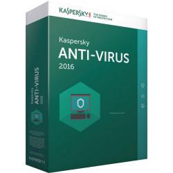 SOFTWARE KASPERSKY ANTIVIRUS 2016 5 PC