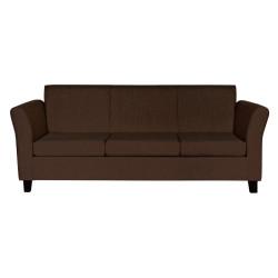 Sillón Veneciano 3 Cuerpos De Chenille Marrón Mi Sofa
