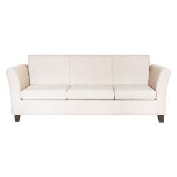 Sillón Veneciano 3 Cuerpos De Chenille Crudo Mi Sofa