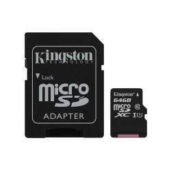 TARJETA DE MEMORIA MICROSD 64GB KINGSTON CANVAS SELECT CLASE 10