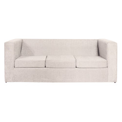 Sillón Cubo 3 Cuerpos De Chenille Crudo Mi Sofa