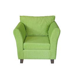 Sillón Trento 1 Cuerpo De Chenille Verde Full Confort